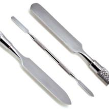 Fogászati cement keverő spatula, rozsdamentes acél, vékony méret
