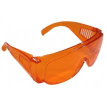 Védőszemüveg, narancs, UV szűrős