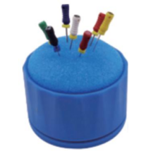 Endo szivacs tartó, műanyag, kék, autoklávozható, 1 db