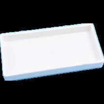 Fogászati tálca, osztatlan, műanyag, fehér, autoklávozható, 1 db