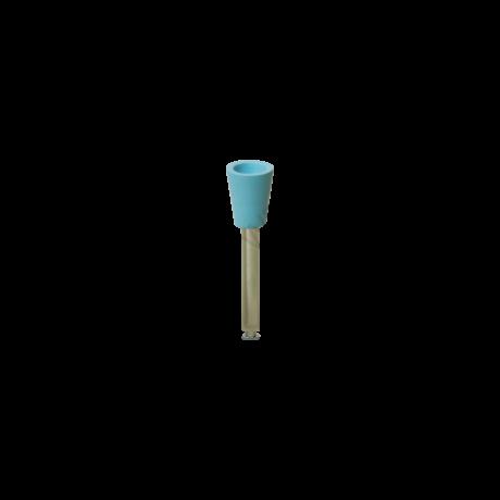 Szilikon polírozó, RA befogadó, Puha, tölcsér alakú, kék színű, 1 db