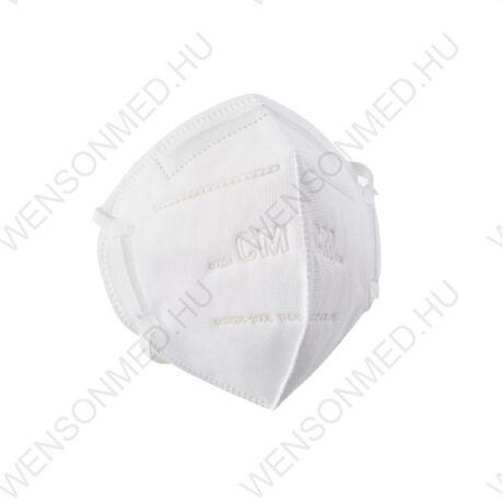 KN95/FFP2 szájmaszk, prémium minőségű, fejre gumis, 1 db