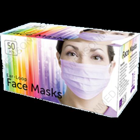Fogászati arcmaszk, 3 rétegű, TYPE II prémium minőségű, gumis, 1 doboz