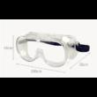 Orvosi szelepes védőszemüveg, páramentesítő, gumis,1db