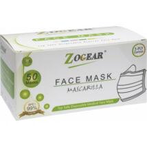 Fogászati arcmaszk, 3 rétegű, TYPE II R prémium minőségű, gumis, 50 db