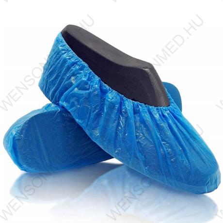 Cipővédő lábzsák, kék, egyszerhasználatos, 100 db